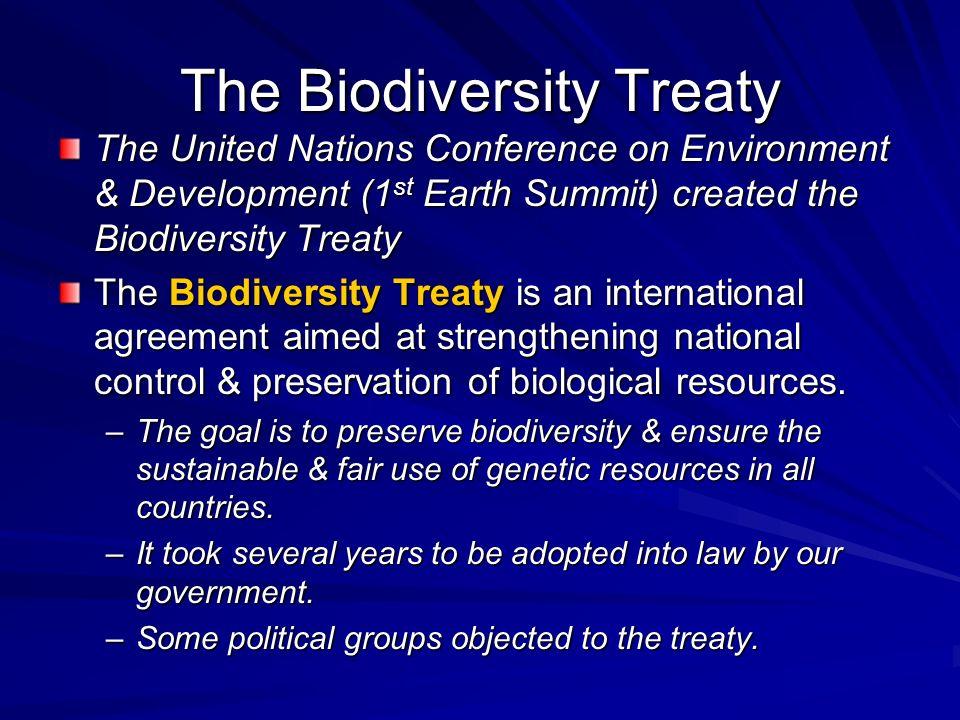 The Biodiversity Treaty