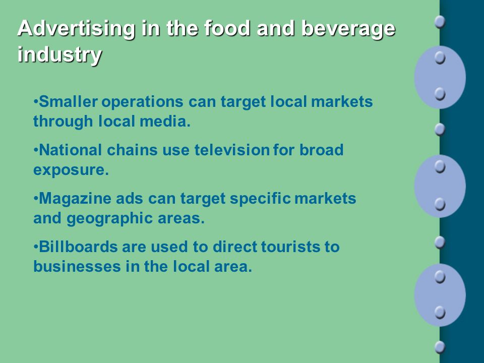 Advertising in the food and beverage industry