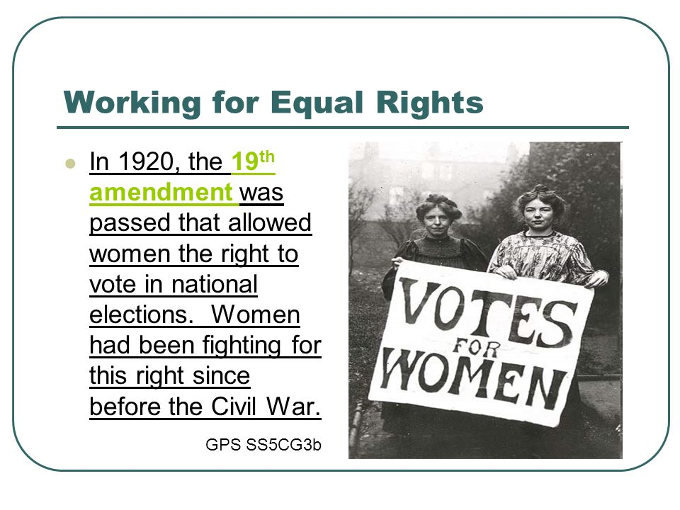 Working for Equal Rights