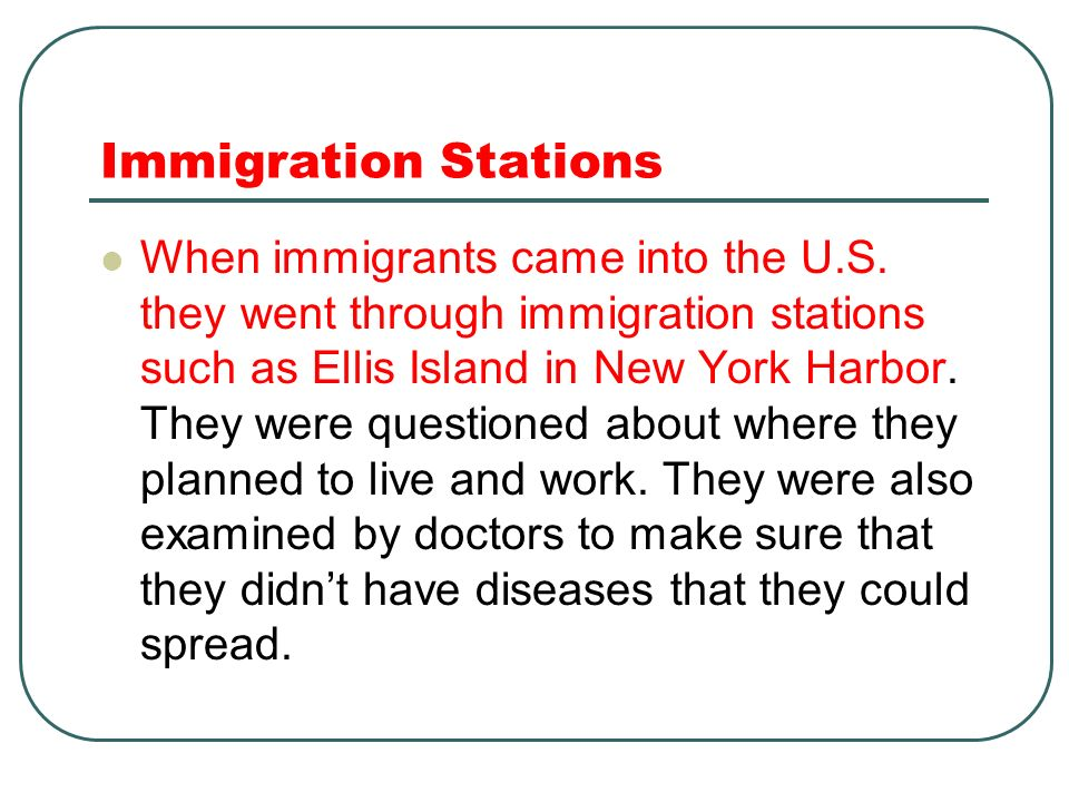 Immigration Stations
