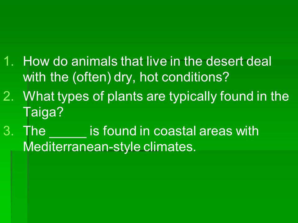 How do animals that live in the desert deal with the (often) dry, hot conditions
