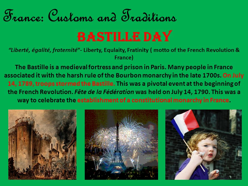 France: Customs and Traditions
