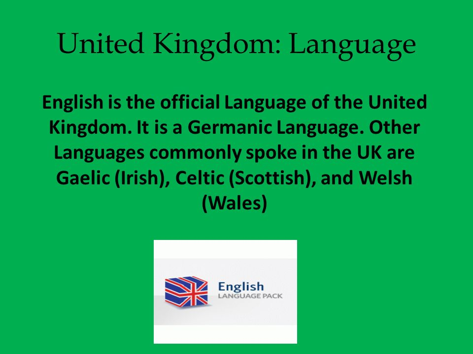United Kingdom: Language
