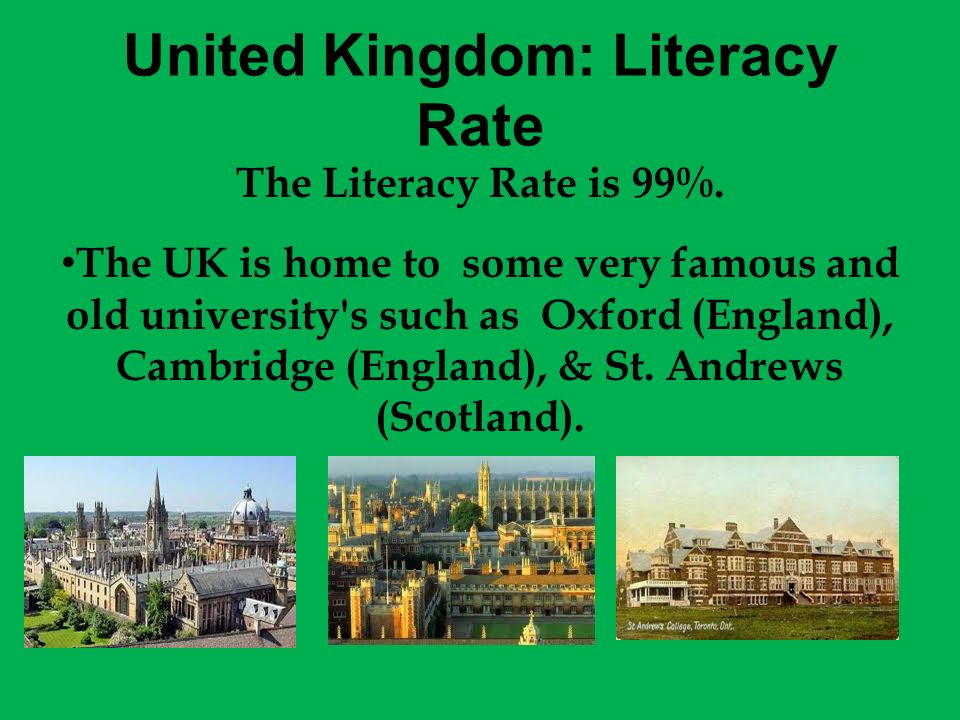 United Kingdom: Literacy Rate