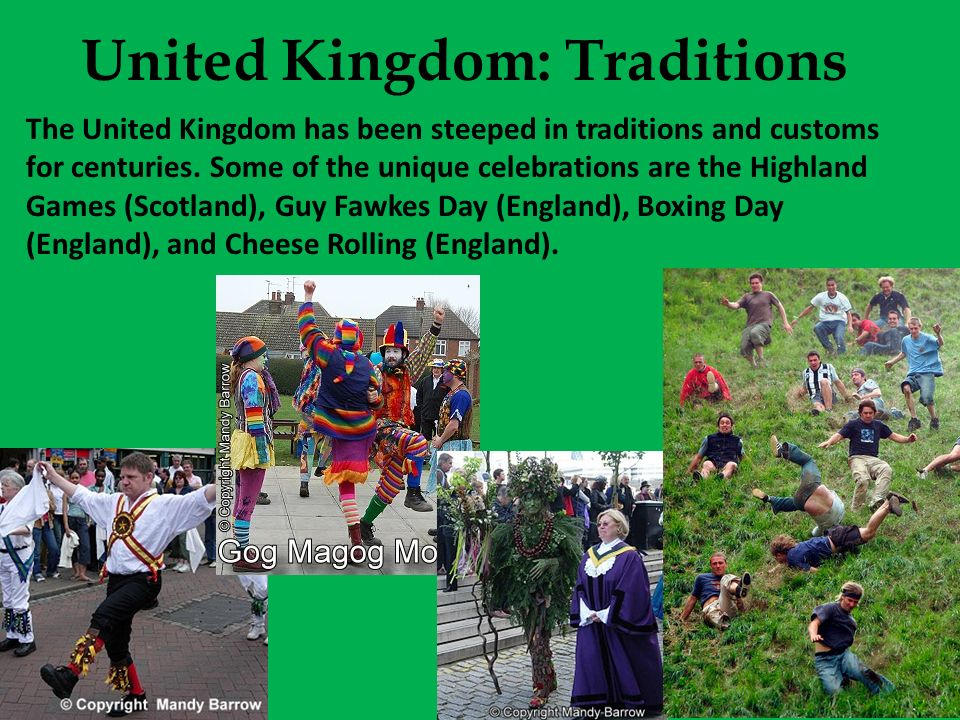 United Kingdom: Traditions