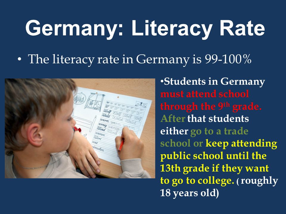 Germany: Literacy Rate
