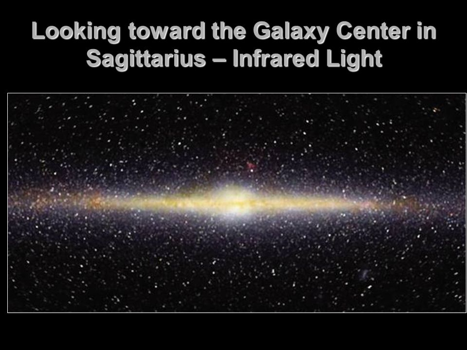 Looking toward the Galaxy Center in Sagittarius – Infrared Light