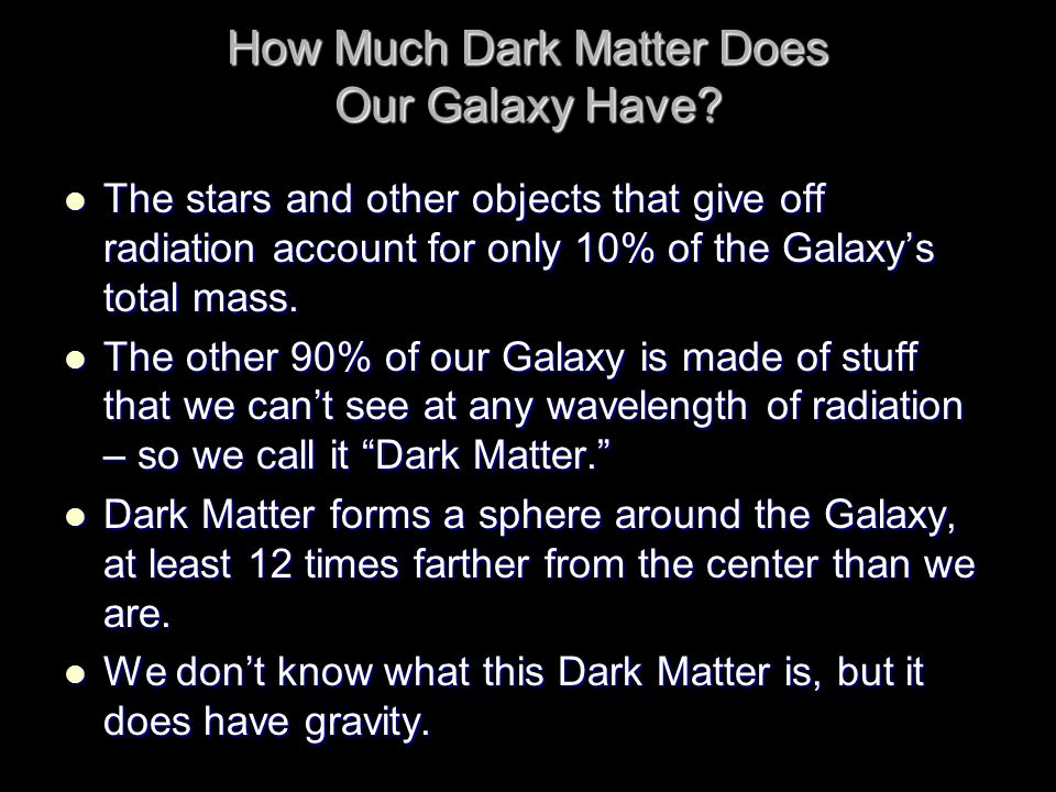 How Much Dark Matter Does Our Galaxy Have
