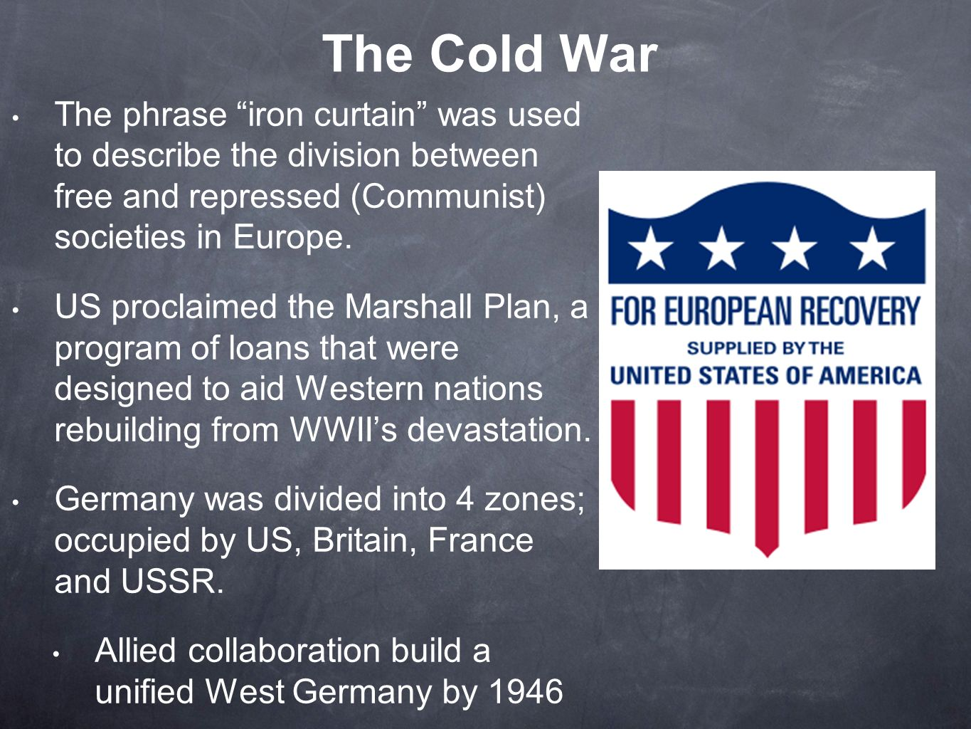 Chapter 31 western society and eastern europe in the - The marshall plan was designed to ...