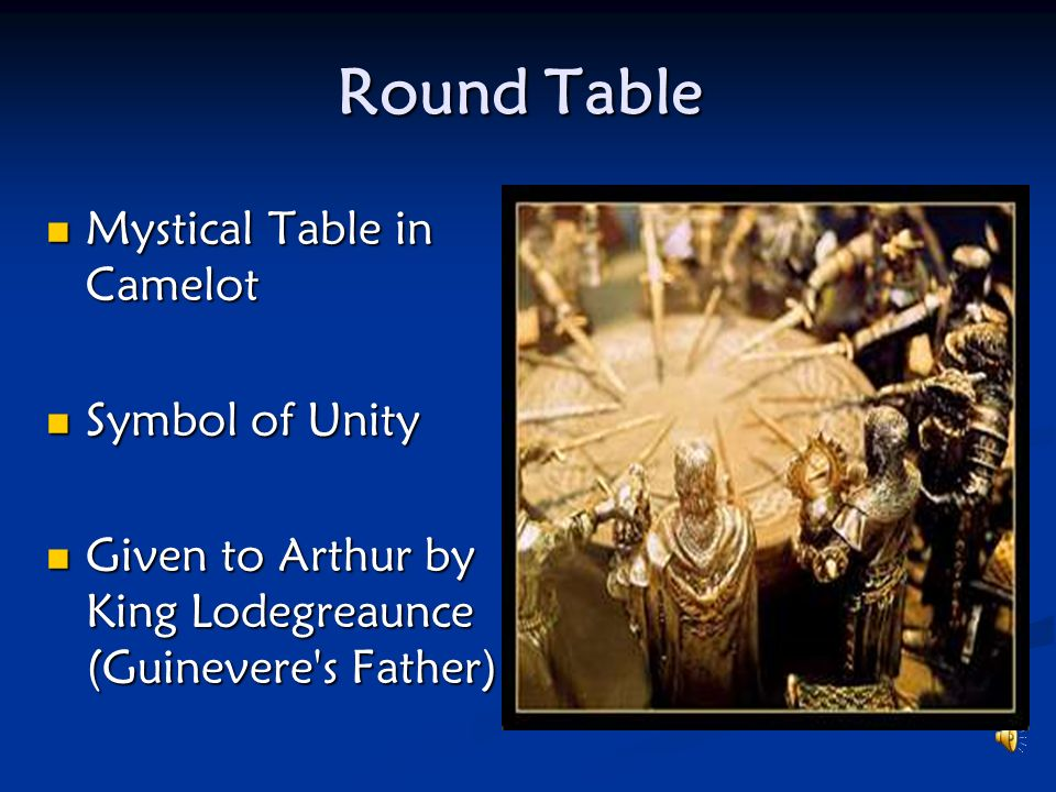 Round Table Mystical Table in Camelot Symbol of Unity