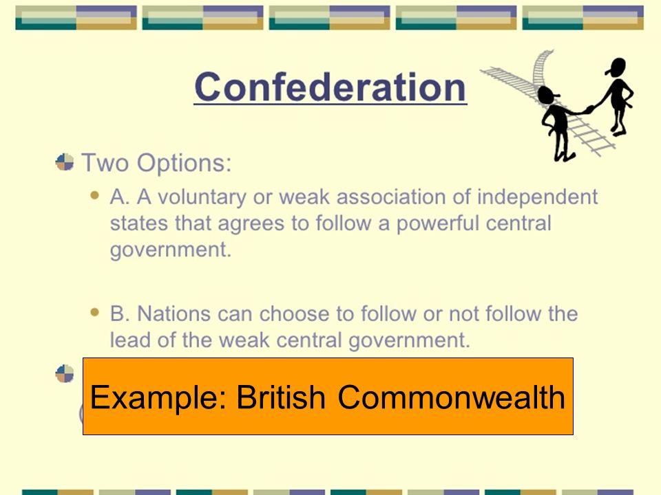 Example: British Commonwealth