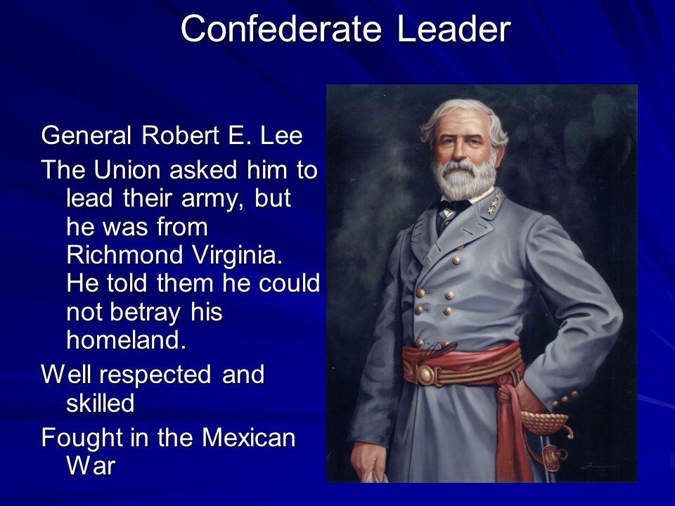 Confederate Leader General Robert E. Lee