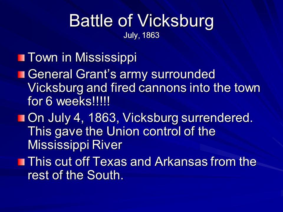 Battle of Vicksburg July, 1863