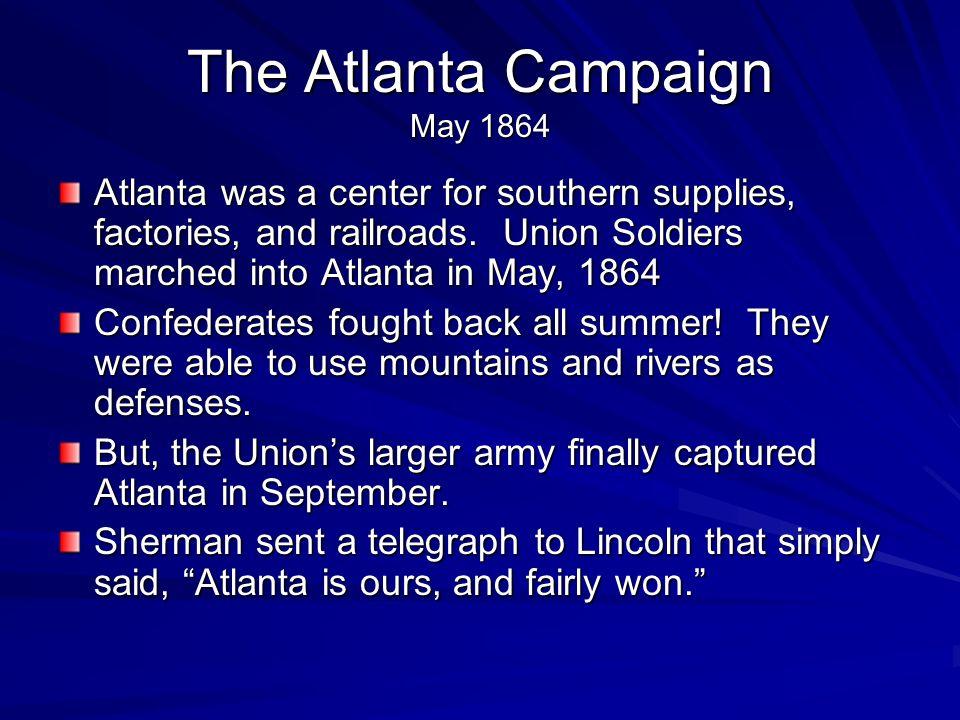The Atlanta Campaign May 1864