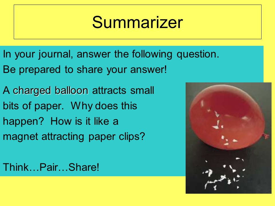Summarizer In your journal, answer the following question.
