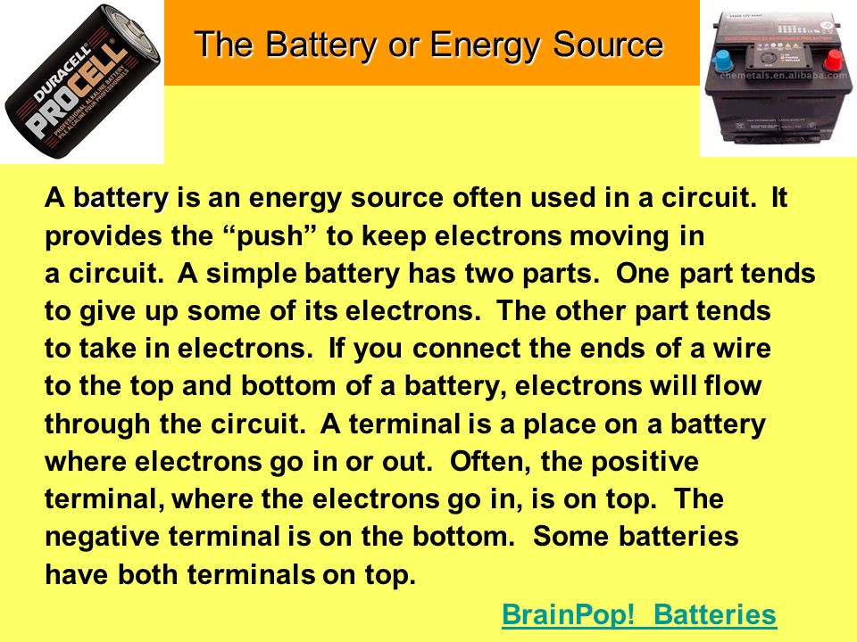 The Battery or Energy Source
