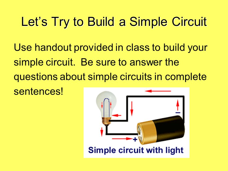 Let's Try to Build a Simple Circuit