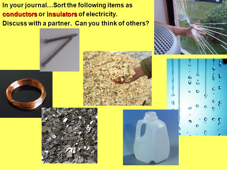 In your journal…Sort the following items as