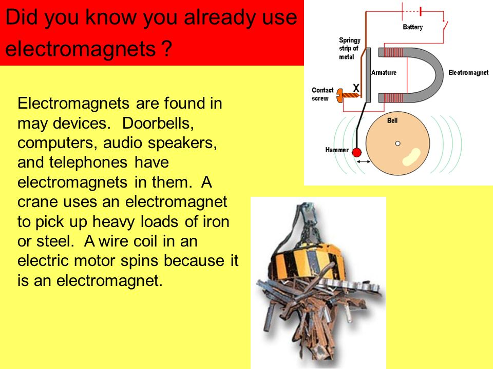Did you know you already use electromagnets