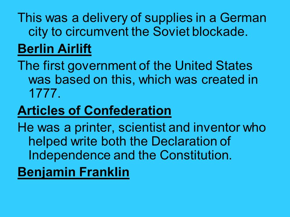 This was a delivery of supplies in a German city to circumvent the Soviet blockade.