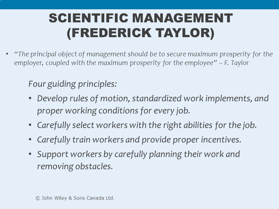 scientific management taylor and the gilbreths With the tools of science, taylor maintained, work could be improved and   hence for the gilbreths: 'scientific management is simply management that is.