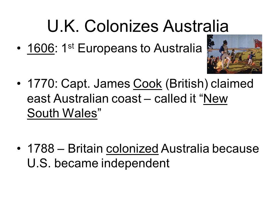 U.K. Colonizes Australia