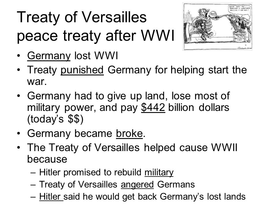 Treaty of Versailles peace treaty after WWI