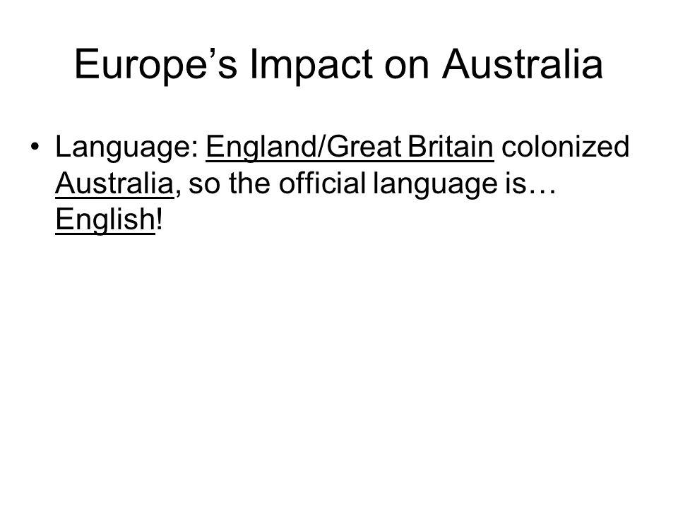 Europe's Impact on Australia