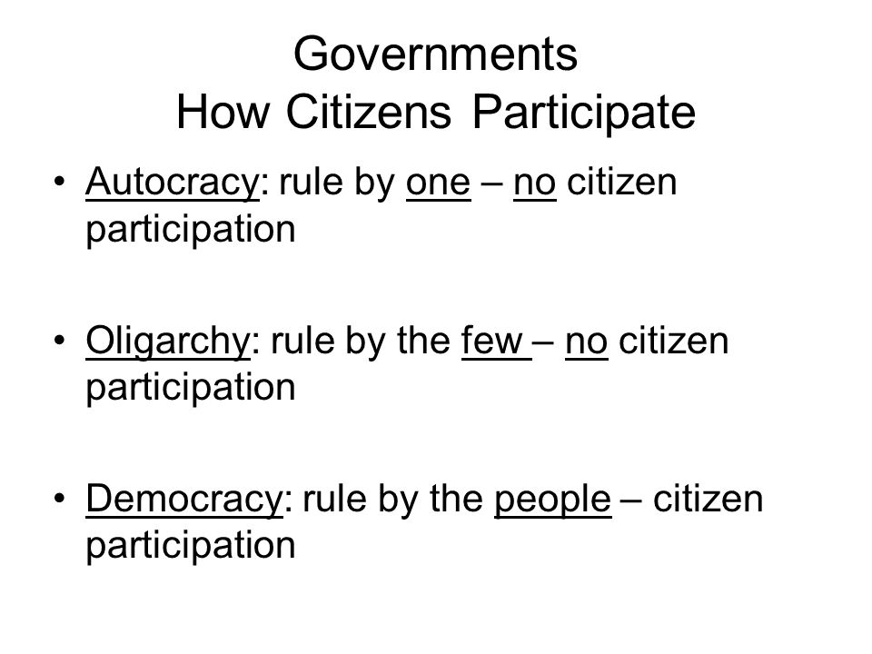 Governments How Citizens Participate