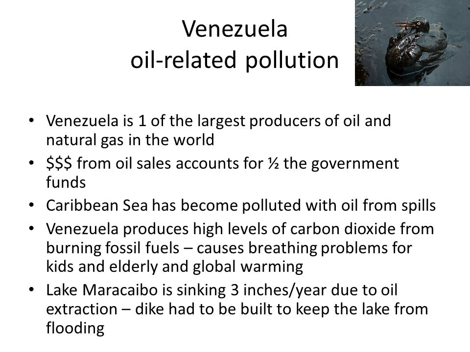 Venezuela oil-related pollution