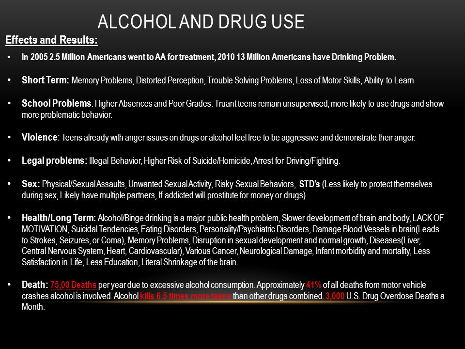 Drug and Alcohol Abuse Effects on Teens - The Canyon