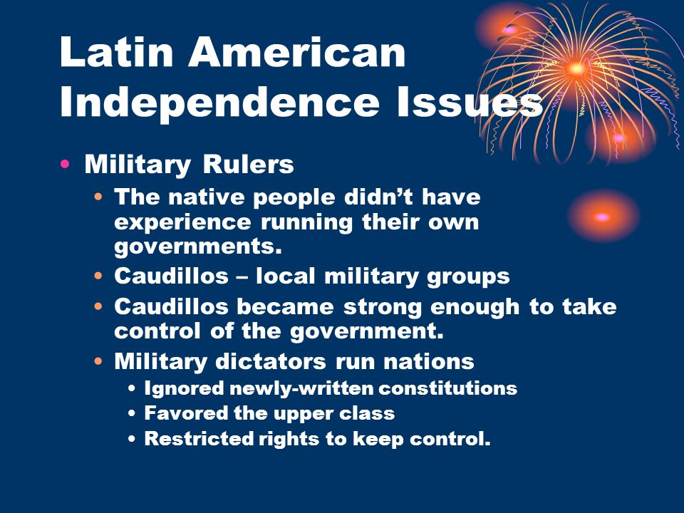 Latin American Independence Issues