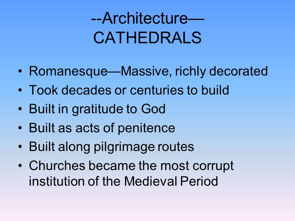 --Architecture— CATHEDRALS