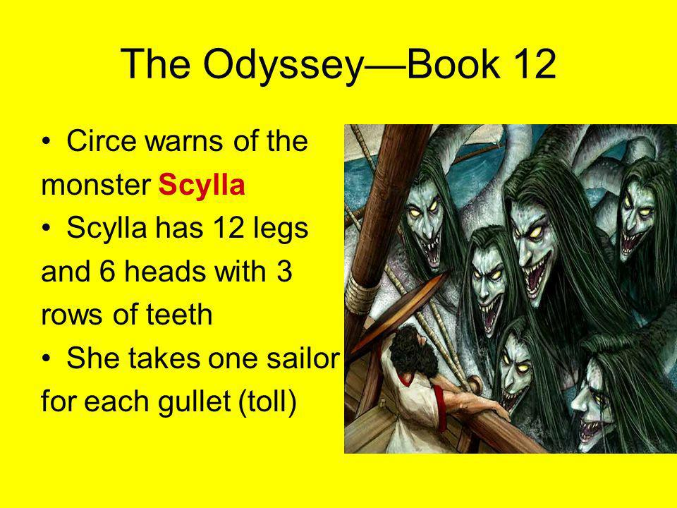 The Odyssey—Book 12 Circe warns of the monster Scylla