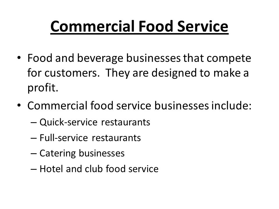 Commercial Food Service
