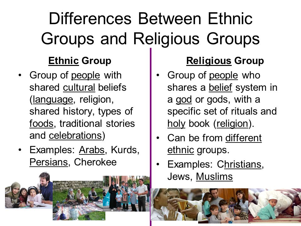 Differences Between Ethnic Groups and Religious Groups