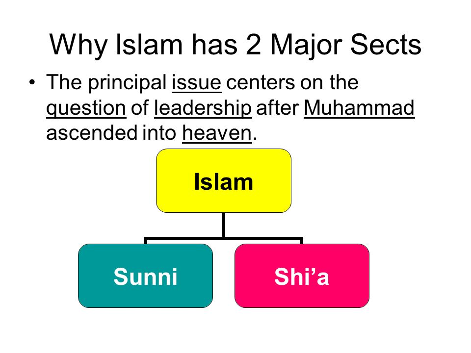 Why Islam has 2 Major Sects
