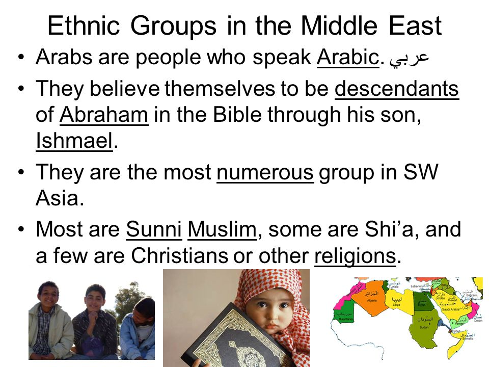 Ethnic Groups in the Middle East