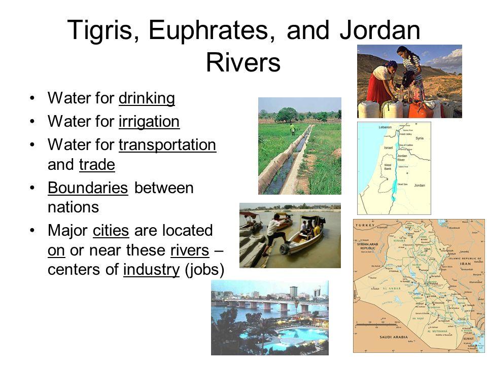 Tigris, Euphrates, and Jordan Rivers