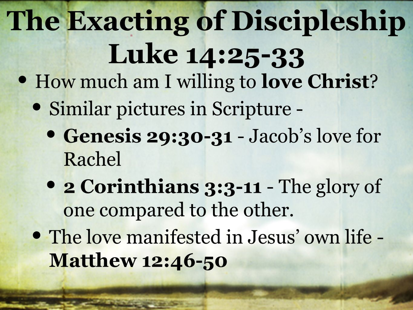 """the meaning of discipleship essay Discipline comes from discipulus, the latin word for pupil, which also provided the source of the word disciple (albeit by way of a late latin sense-shift to """"a follower of jesus christ in his lifetime"""") given that several meanings of discipline deal with study, governing one's behavior, and instruction, one might assume that the word's first meaning."""