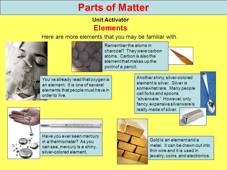 Here are more elements that you may be familiar with.