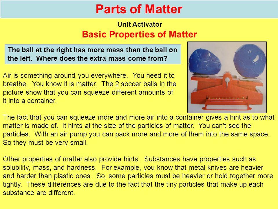 Basic Properties of Matter