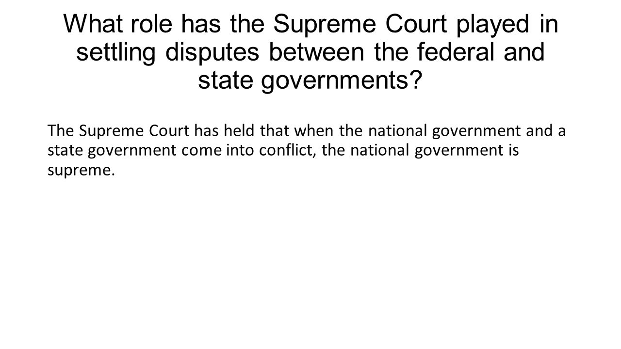 the role of federal and state government essay Federal v state government to this day the relationship between federal and state governments in respect to the constitution still effect the everyday.