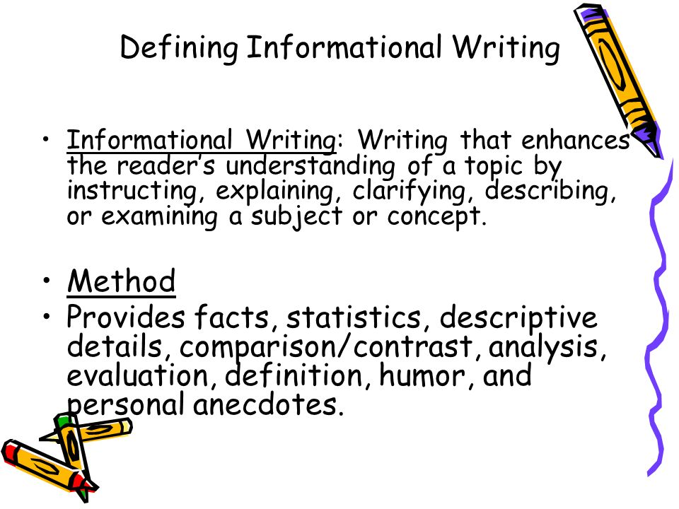 Defining Informational Writing