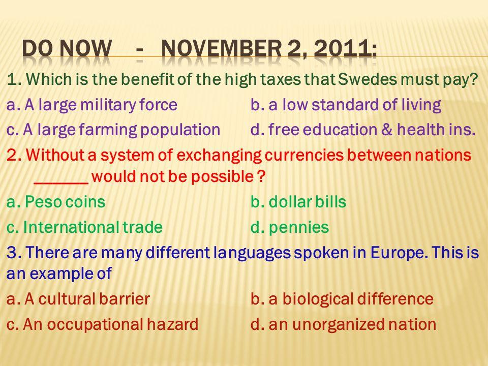 DO NOW - November 2, 2011: