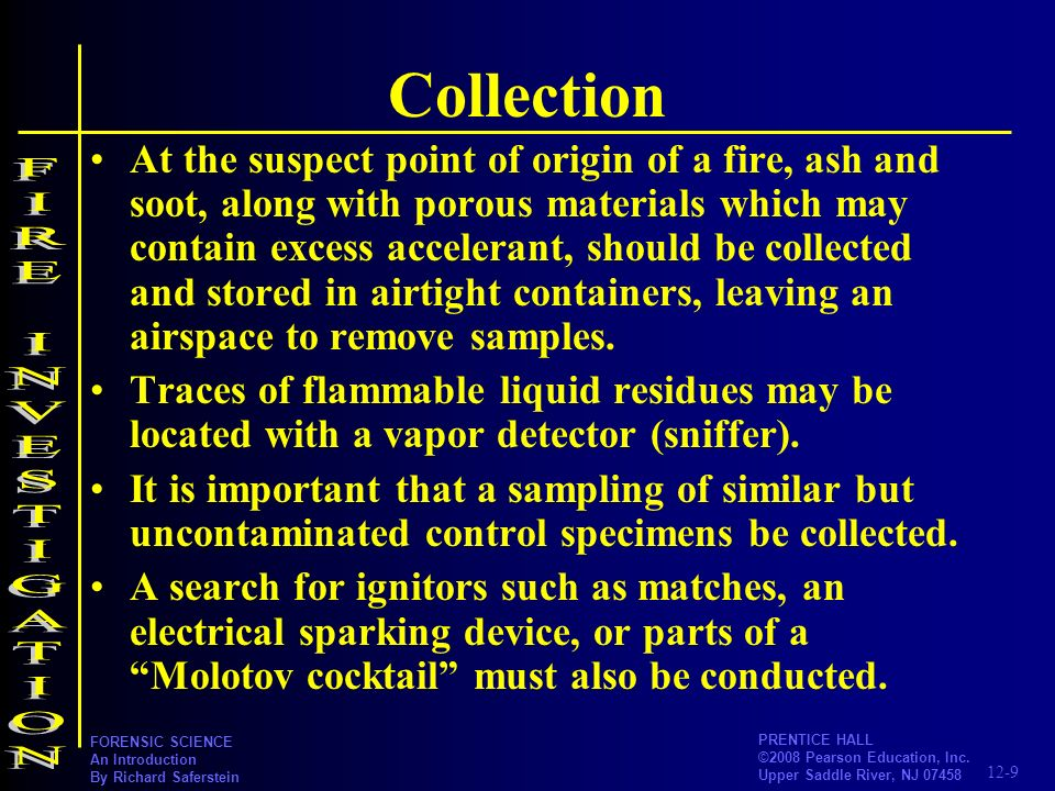 Collection FIRE INVESTIGATION