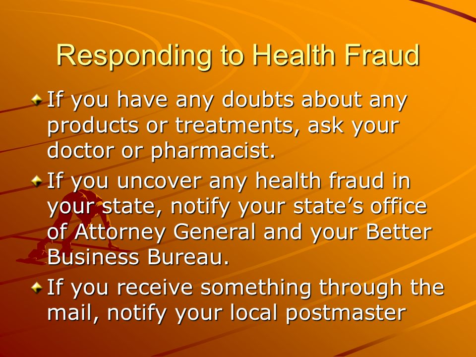 Responding to Health Fraud