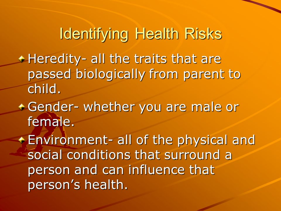 Identifying Health Risks
