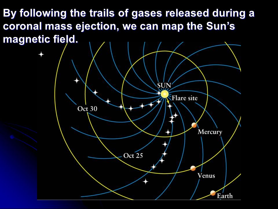By following the trails of gases released during a coronal mass ejection, we can map the Sun's magnetic field.