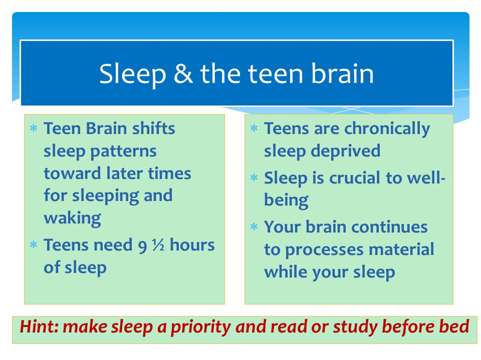 study of the teenage brain In the national longitudinal study on the teenage brain: see the following other college statements that have information regarding the teenage brain.